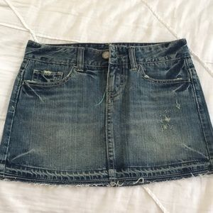 American eagle mini jean skirt denim size 0